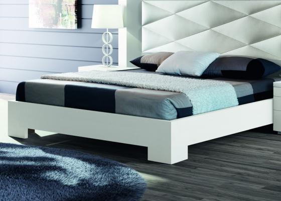 Aro de cama lacado, mod: GORDON BLANCO