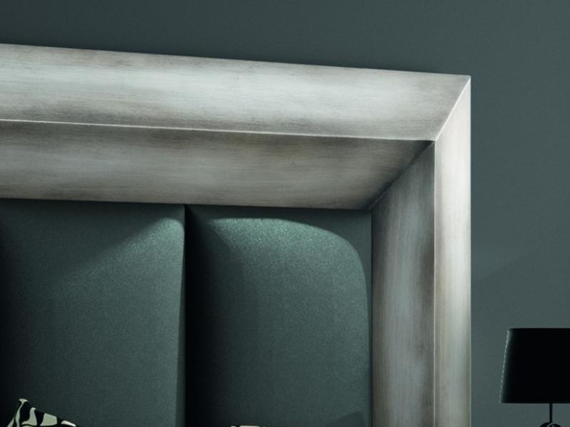 Cabecero lacado y tapizado, mod: GORDON PLATA