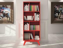 Estantería librería de 8 huecos y estilo vintage, mod. FRIDA