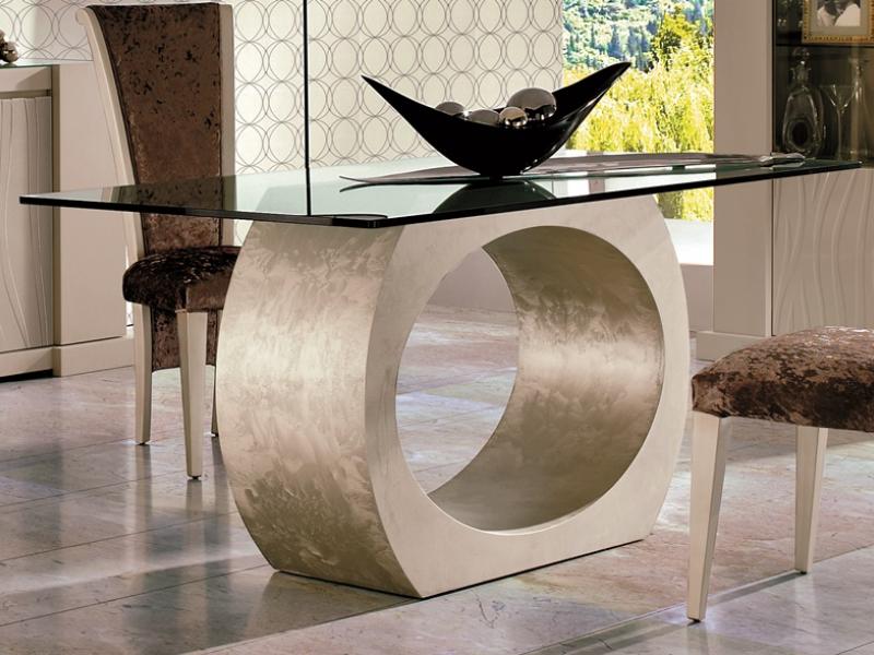 Mesa de comedor fija. Mod. OU BISEL