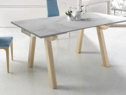 Mesa de comedor extensible con tapa cerámica, mod: JAPO