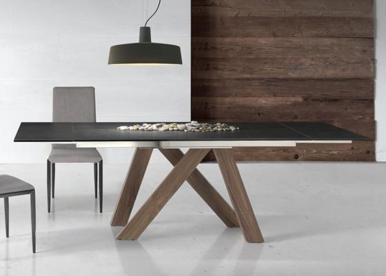 Mesa de comedor extensible.Mod: TANIA WOOD