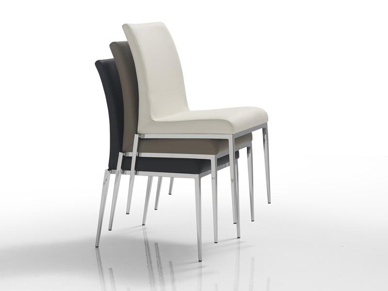 Juego de  2 sillas tapizadas con estructura met�lica. Mod. CINTIA B