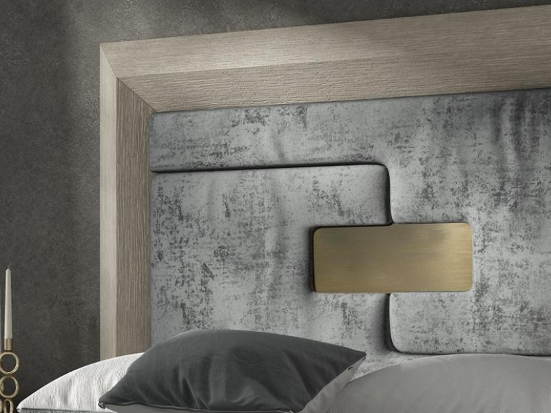 Cabecero roble tapizado, mod: ENZO4848-5