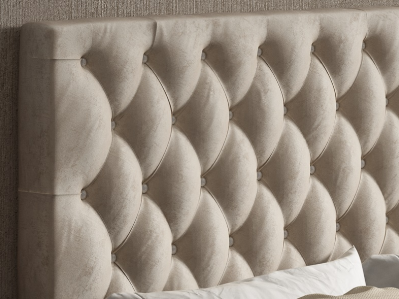Cabecero tapizado capitonn� con botones, mod: ENZO48851