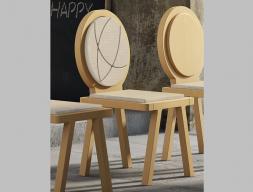 Juego de 2 sillas tapizadas mod: OMEGAGMG1602