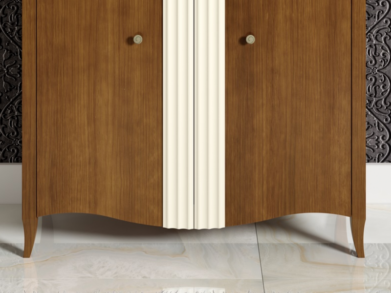 Vitrina alta de 2 puertas, mod: NP105