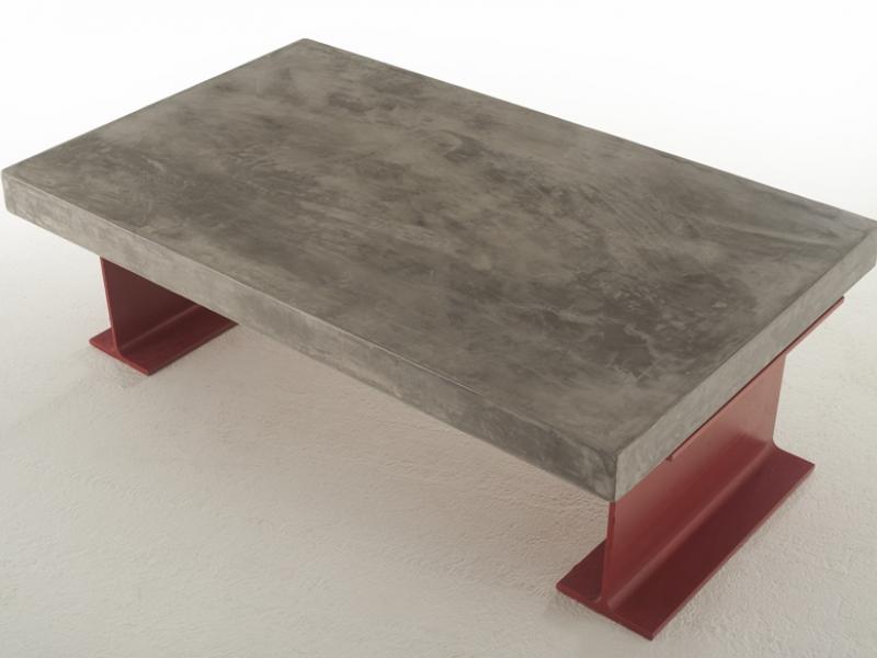 Mesa de centro con tapa de 6 cm, mod: TOKIO6MM