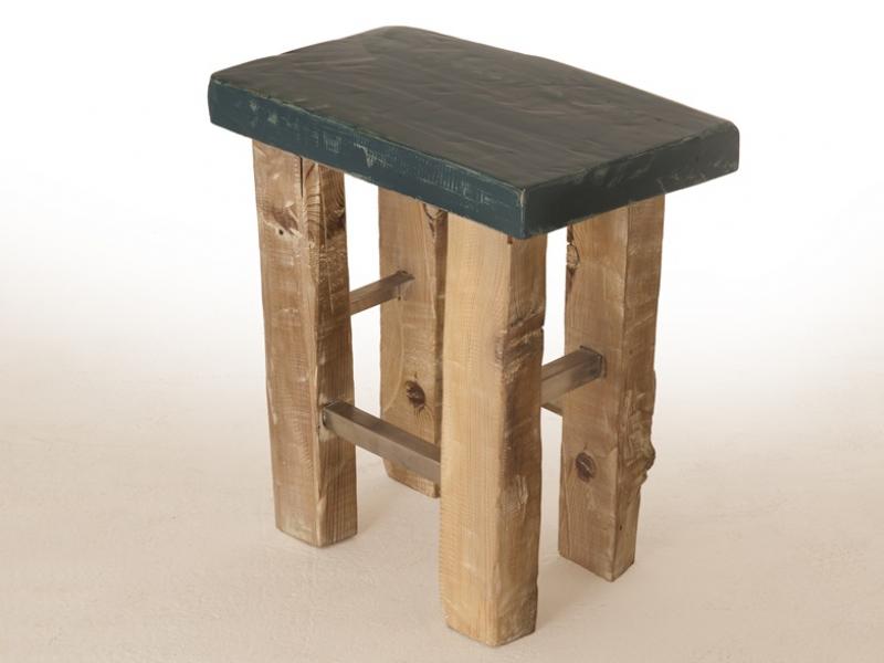 Taburete en madera maciza, mod: OSLO