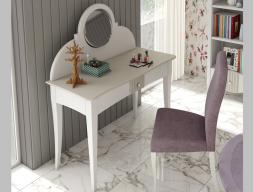 Tocador con espejo lacado, mod: NP174-E