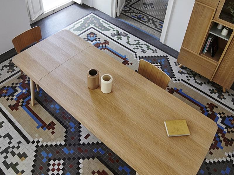 Mesa de comedor extensible. Mod. MM EXT