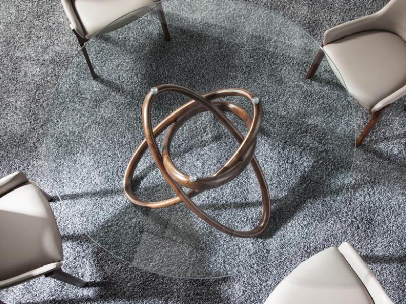Mesa de comedor redonda, mod: TWIN
