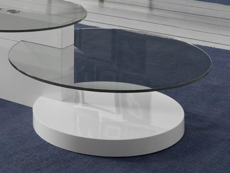 Mesa de centro, mod: LE�N BLANCO