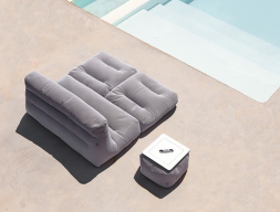 Sofa cama tumbonas colchonetas.Mod: SIT POOL CAMA