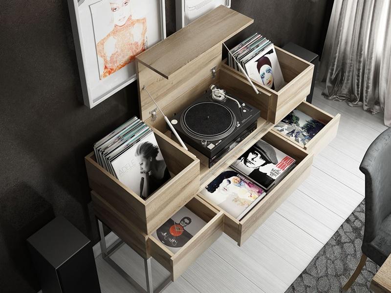 Mueble vinilos. Mod: DALIDA
