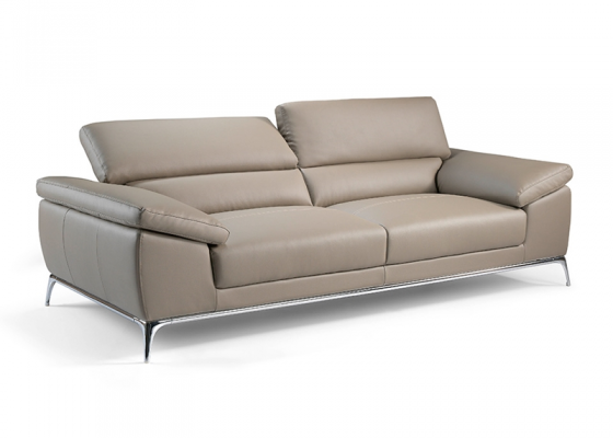 Sofá de 3 plazas tapizado en piel. Mod. MIA 3P