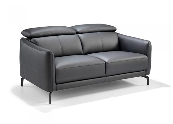 Sofá de 2 plazas tapizado en piel. Mod. CAELI 2P
