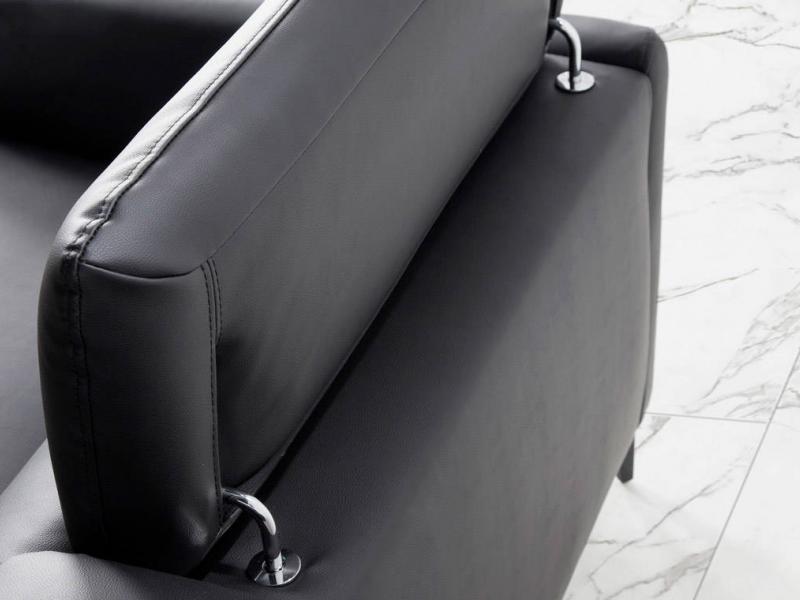 Sofa en piel con chaise longue. Mod. CAELI CL-L