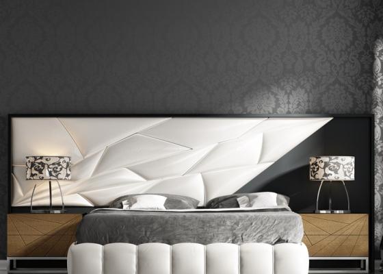 Cabecero lacado y tapizado. Mod: LINDE