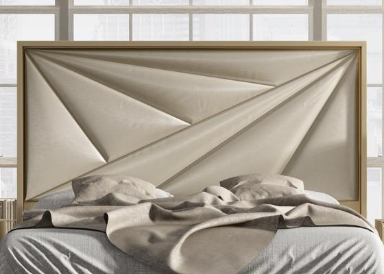 Cabecero tapizado y lacado. Mod: KARMEN