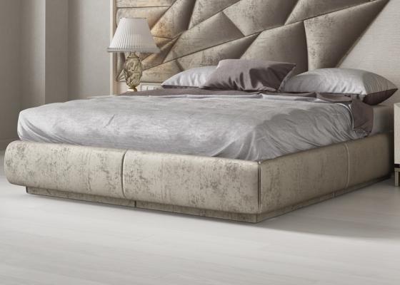 Base de cama tapizada. Mod: NAUGE