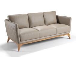 Sofá de 3 plazas tapizado en piel. Mod. ANTONELLA 3P