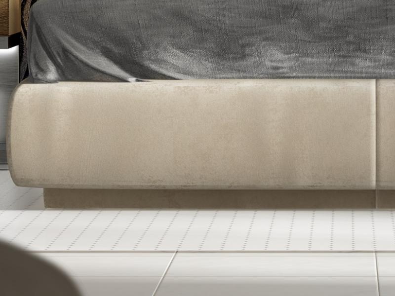 Cama completa lacada y tapizada. Mod: ALYSSA