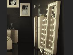 Espejo lacado con luz . Mod. STAR