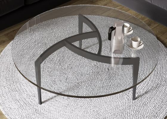 Mesa de centro redonda . Mod: MULINELLI