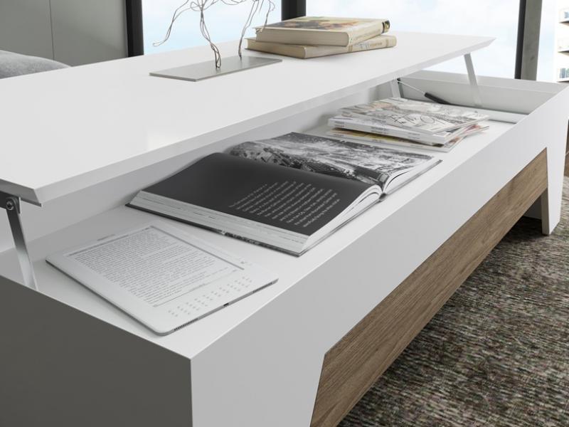 Mesa de centro elevable. Mod: DIAGONAL