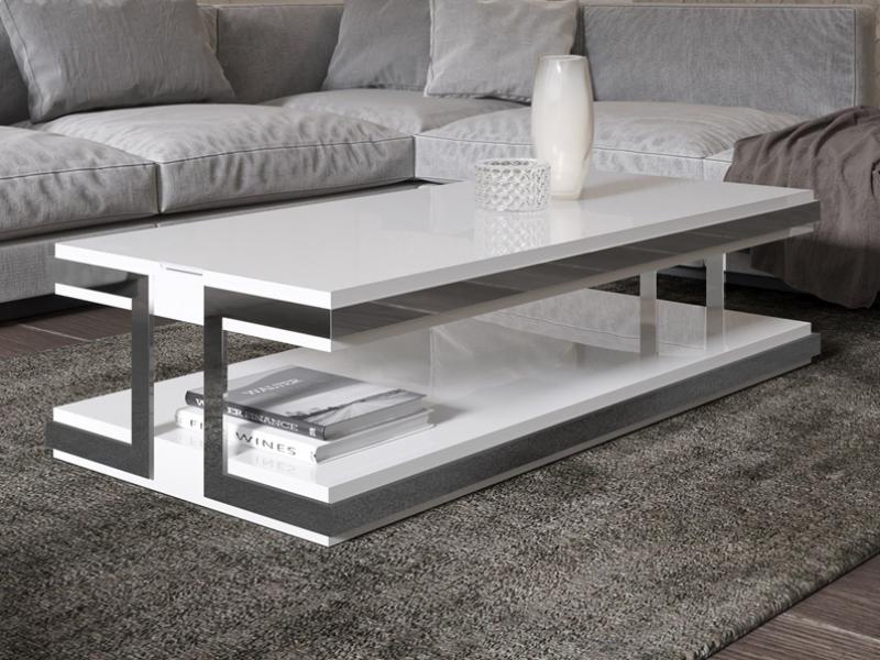 Mesa de centro lacada y elevable . Mod: ABRACCIO ELEVABLE LACADA