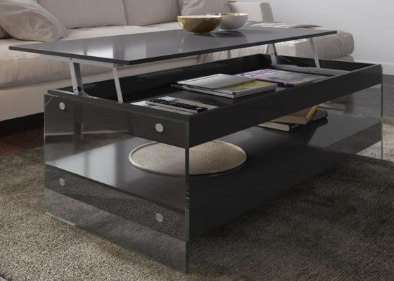 Mesa de centro elevable lacada. Mod: MIAD ELEVABLE
