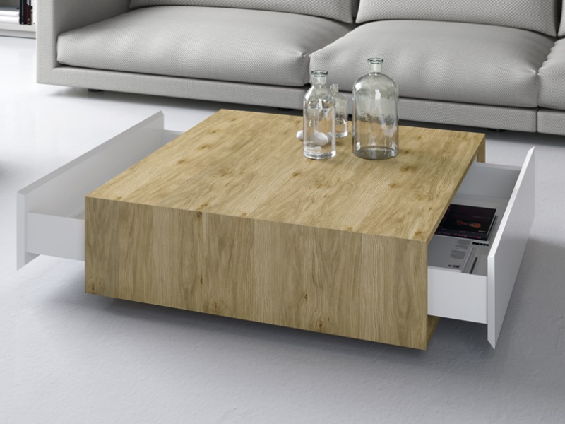 Mesa de centro con cajones. Mod: FLAME