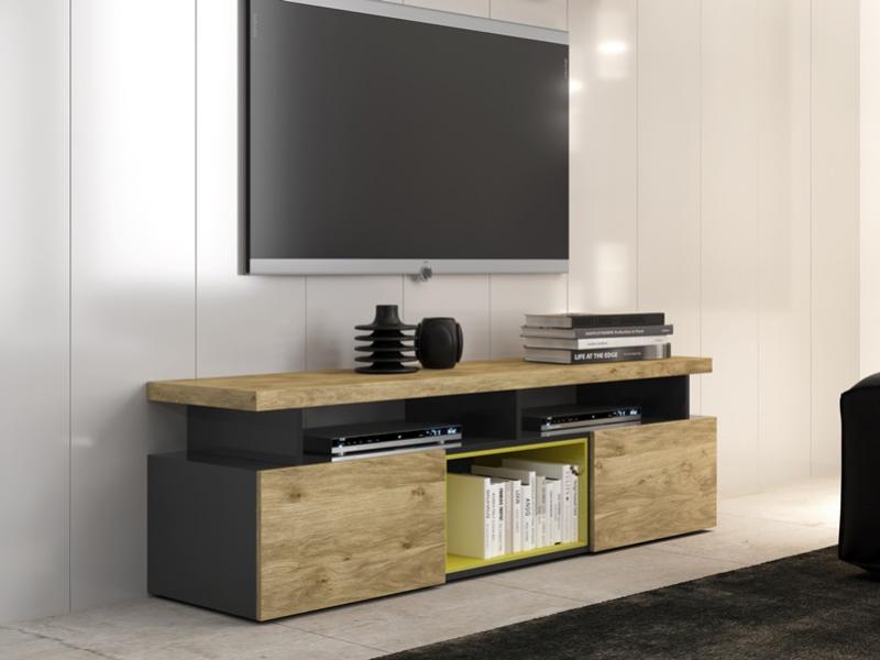 Modulares tv trendy modulares tv with modulares tv for Bar madera moderno
