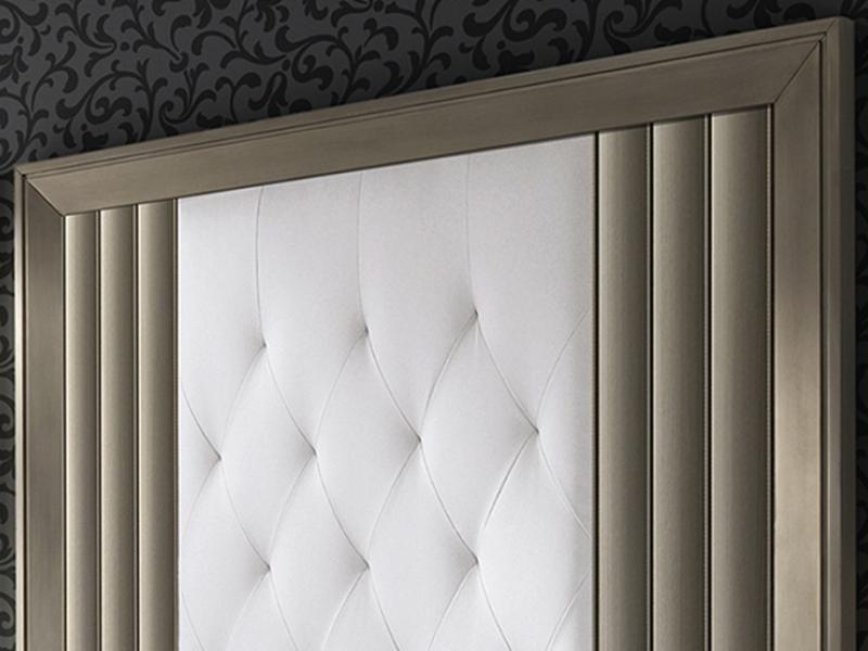 Cabecero lacado y tapizado. Mod: LOYRA CHAMPAGNE