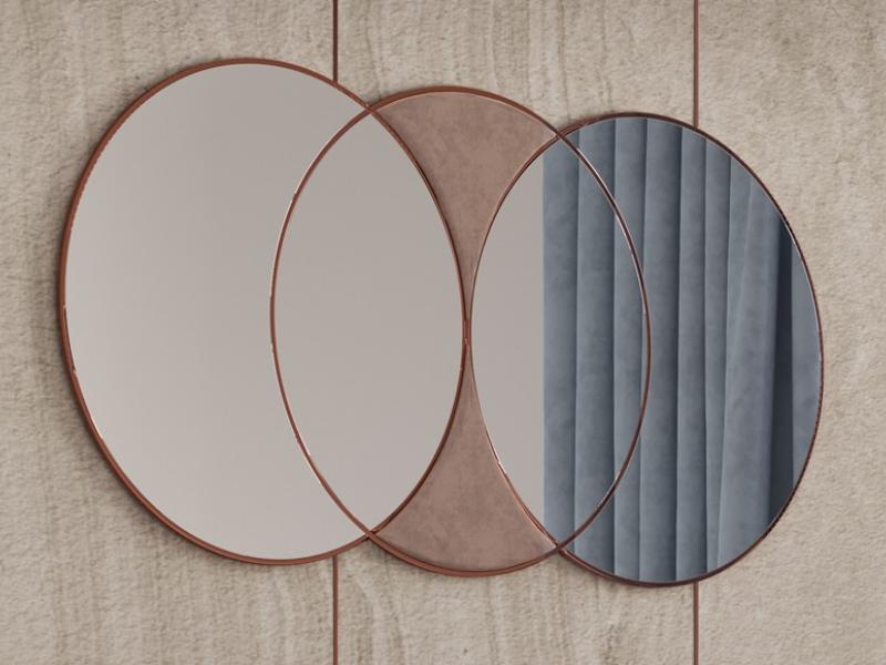 Espejo circular en acero inoxidable. Mod: KAIPA