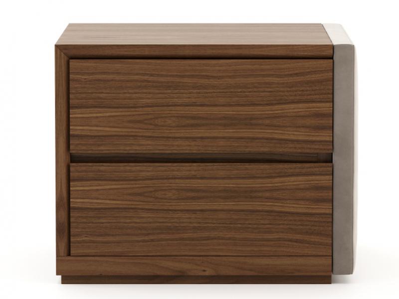 Mesitas de noche en madera y tapizadas- juego de 2 unidades: Mod: DORIANNE