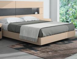 Base de cama en roble con cantos redondeados. Mod: HABANA
