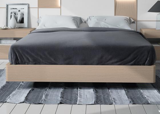 Base de cama en roble con cantos redondeados. Mod: MONTERREY