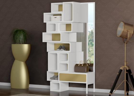 Mueble recibidor y zapatero. Mod: YPRES