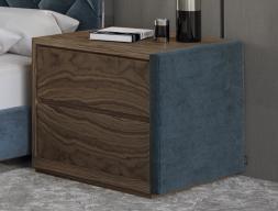 Mesitas de noche en madera y tapizadas- juego de 2 unidades: Mod: DORIANNE TERCIOPELO