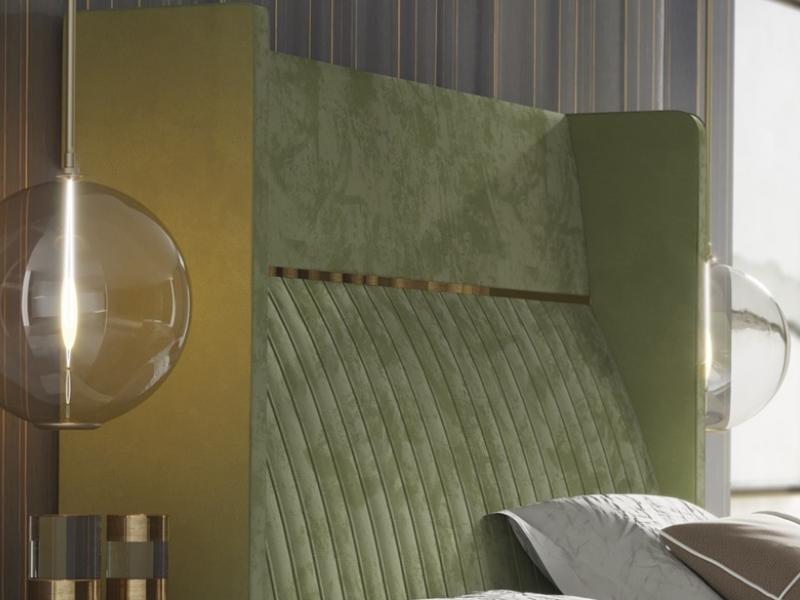 Cama completa tapizada. Mod: CAMILE
