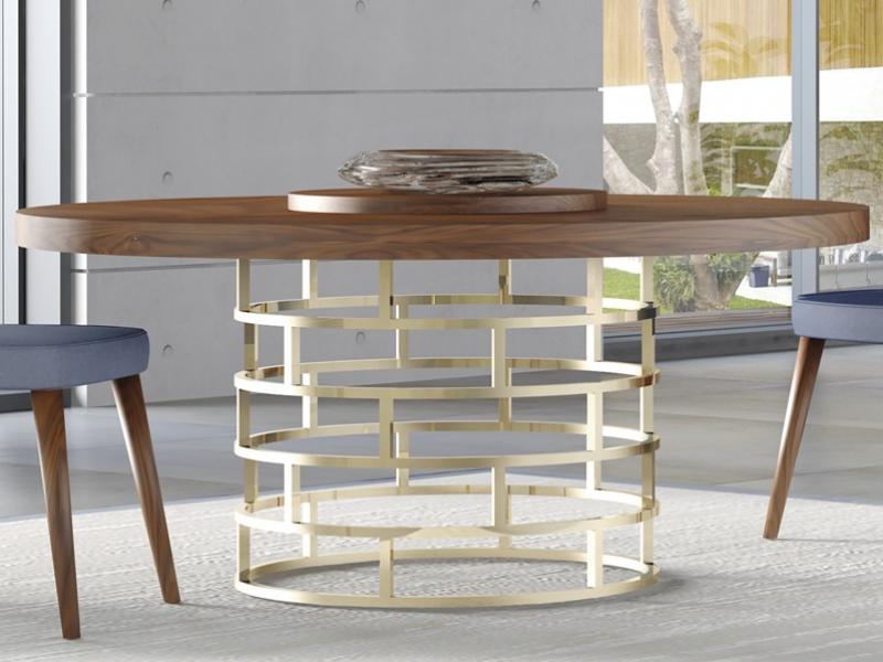 Mesa redonda fija y extensible. Mod: DOLCE