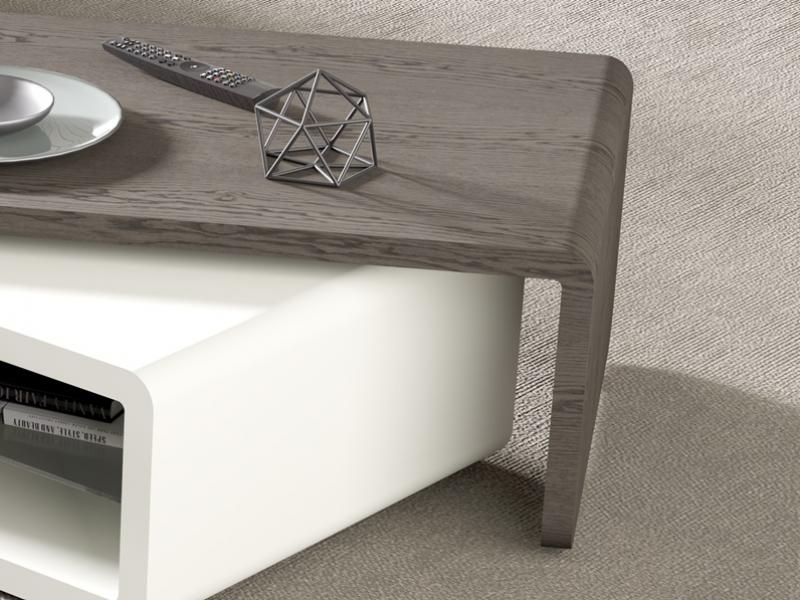 Mesa de centro con tapa giratoria. Mod: SOHO