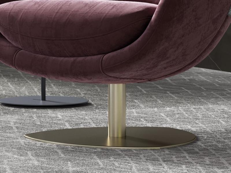 Sill�n relax giratorio tapizado. Mod: TELVA
