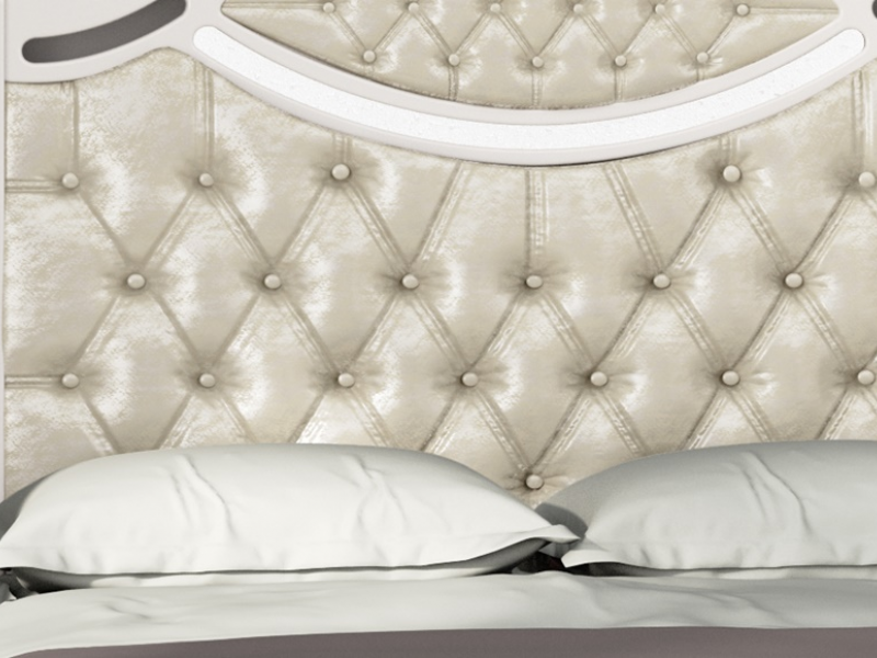 Cabecero lacado con plafones tapizados en capiton�. Mod: SUITE2240