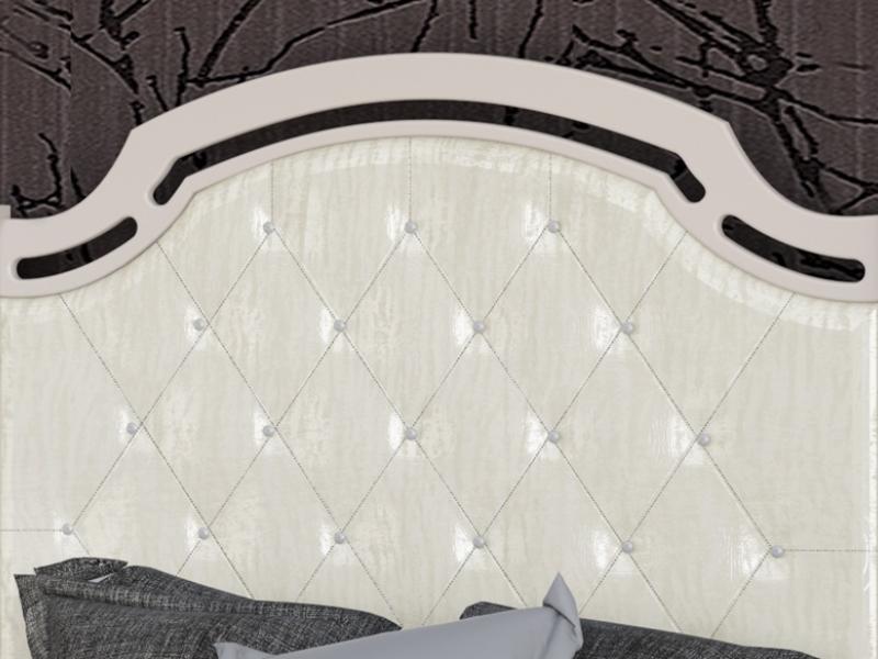 Cabecero lacado con plaf�n tapizado.Mod: SUITE2390