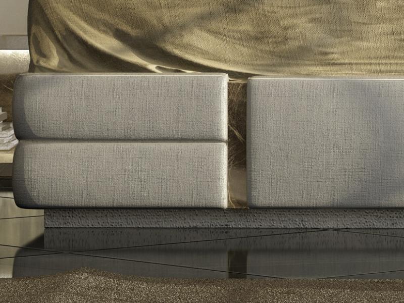 Cama completa tapizada. Mod: VERDI