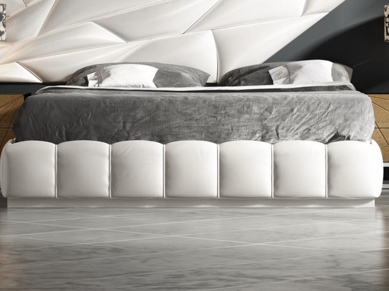 Cama completa lacada y tapizada. Mod: LINDE