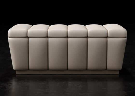 Banqueta tapizada de diseño. Mod: ZARAH